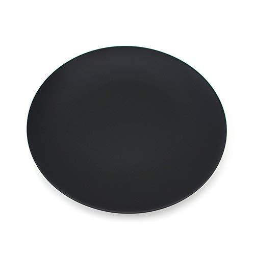 ZGQA-GQA Torta de Platos de la Cena Platesplate Placa de cerámica Vajilla Negro Placa de cerámica del vajilla del Hotel Placa de cerámica Vajilla, Y1 / Negro Mate / 6 Pulgadas Superficial de la Placa