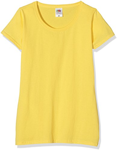Fruit of the Loom SS079M Camiseta, Amarillo (Yellow), 38 (Talla del Fabricante: Small) para Mujer