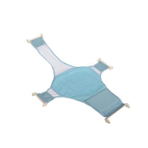 linjunddd Safe Baby-Kind-Bad-Riemen-Bett-weicher Beleg Mesh-Riemen-Rack-Sprühplatte Massage Blau 1pc