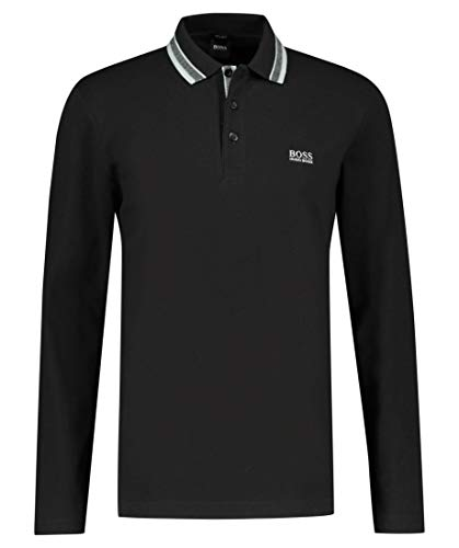 BOSS Plisy Camisa Polo, Negro (9), S para Hombre