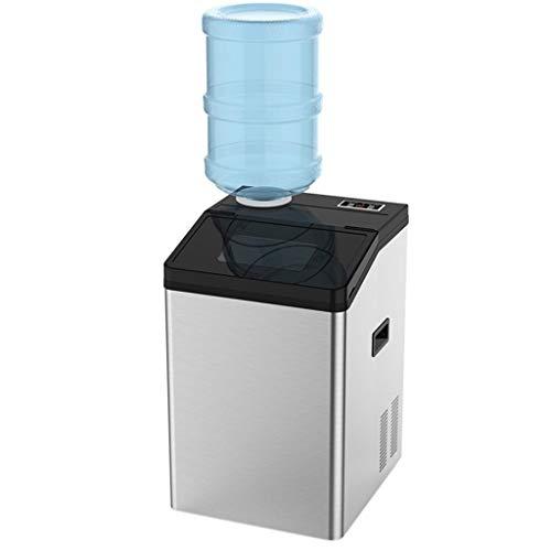 Machine à glaçons portative pour le comptoir, fabriquez 121 lb de glace en 24 heures avec un affichage à LED parfait pour les boissons mixtes des fêtes, avec une cuillère à glace et des raccords