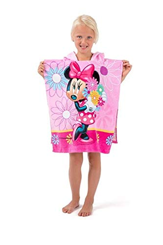 KK Minnie Mouse Kinder Poncho Kapuze Duschtuch Badetuch Strandtuch