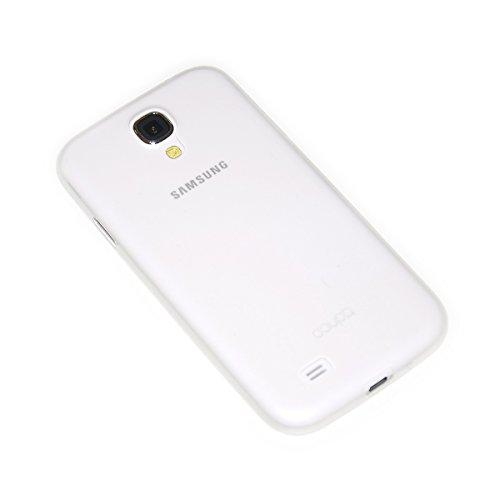 doupi UltraSlim Custodia per Samsung Galaxy S4, Satinato fine Piuma Facile Mat Semi Trasparente Cover, Bianco