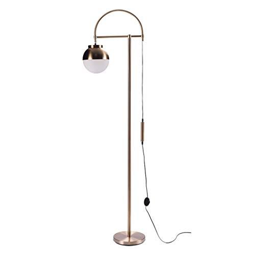 Lampes de chevet Lampadaire Nordic Floor Lamp Chambre Salon Décoration Lampadaire Personalité Post-Moderne Balle en Métal Vertical Lampe De Table (Color : Gold, Size : 36 * 160cm)