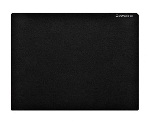 Micro Mouse Pad Small 8 x 6 Inch Black Mini Mousepad for Laptop or Desktop