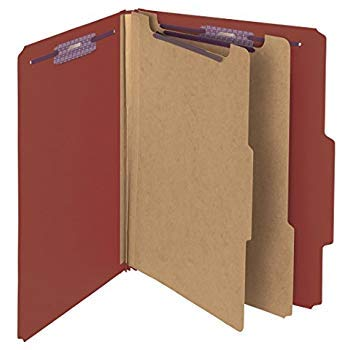 10 Letter Size Red Classification Folders- 1 Divider-2'' Tyvek expansions- Durable 2 Prongs Designed to Organize Standard Medical Files, Office Reports– Letter Size,