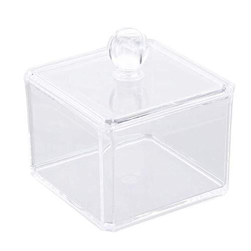 takestop® Organizer Contenitore Quadrato ESY_10241 Porta DISCHETTI STRUCCANTI Trucco Cosmetici Make UP ESPOSITORE Trasparente Acrilico