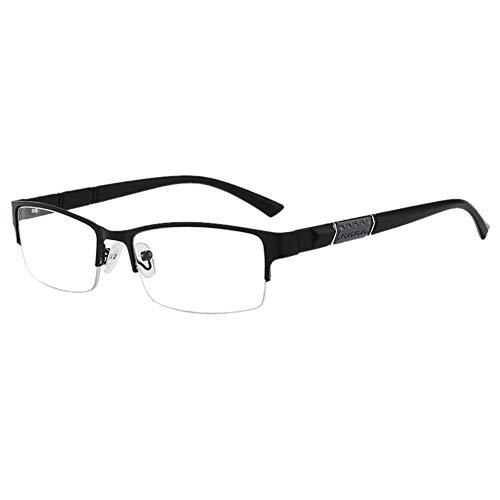 yarui メガネ 男女兼用 黒クラシックレディース メンズアンチブルーハーフフレーム反電磁波多機能メガネ 眼鏡