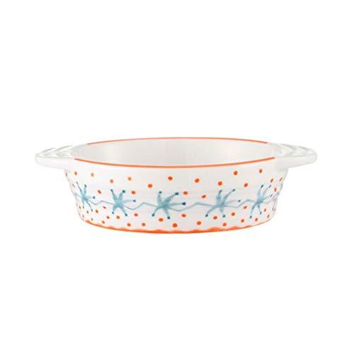 Unbekannt Chun Li Backblech, leicht gestrichene Backblech, Käse, Reis Teller, Ofen, Keramik Teller, Backgeschirr, Teller, 1-2 Portionen Backformen (Color : A)