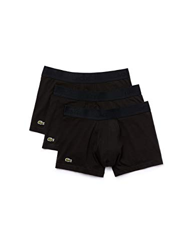 Lacoste Herren 5H3407 Boxershorts, Black, XL (3er Pack)