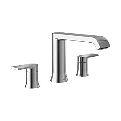 Moen T908 Genta LX Two Handle Deck Mounted Modern Roman Tub Faucet Valve Required, Chrome