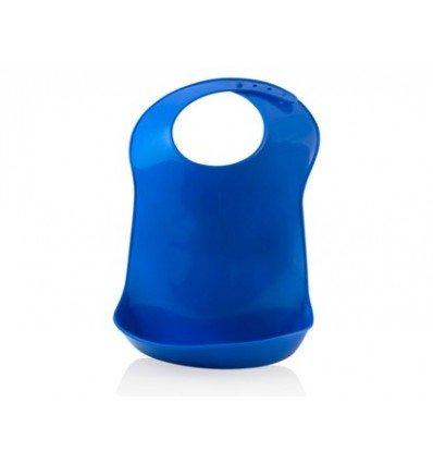 Miniland Azul Babero de plástico Flexible para bebés, Mult