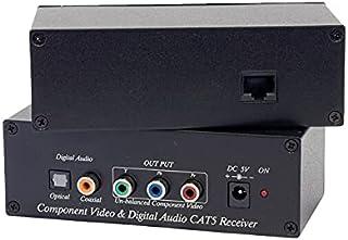 CV02A-4 Component Video Cat5 Extender 2Pcs/Set Balun Digital Audio Active Type, with External Power, Digital Audio: Coaxia...