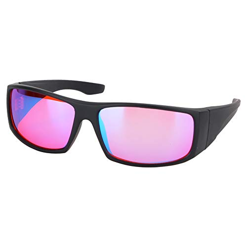 Jacksking Farbenblinde Brille, Korrekturbrille Rot Grün Blindheit Schwäche Sehkraftverbesserungsbrille, Farbsehstörung/Farbschwäche