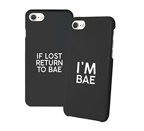 If Lost Return To Bae_011346 Iphone Phone Hard PC Case Cover For Couples Best Friends In Relationship Present BFF Bae For Iphone 6 6s 7 7plus 8 X Case Cover 3D Print