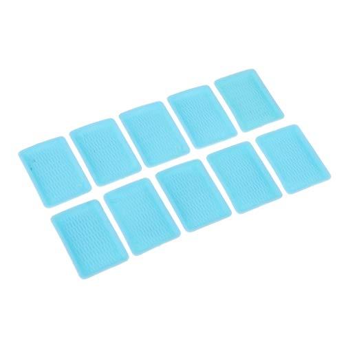 Toygogo 10 piezas 1/6 casa de muñecas en miniatura plato plato bandeja de té vajilla decoración azul