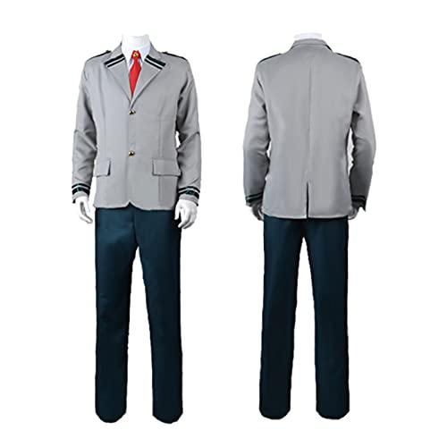 QDX Mein Held Akademie Cosplay Uniform Middori Valley Idku Cos Schuluniform Jungen und Mädchen Halloween Anzug men-XL