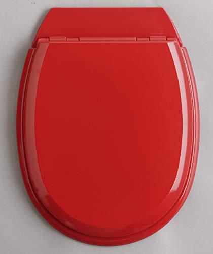 ALLIBERT 819890 Abattant WC, Bois, Rouge Brillant, 37cm x 5,1cm x 48,1cm