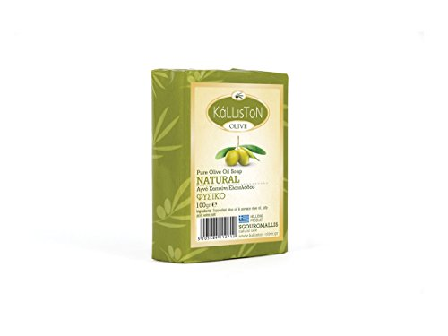 """Preisvergleich Produktbild Olivenöl Seife Traditional """"Natural"""" von Kalliston aus Griechenland Kreta 100 gr Olivenölseife Olive Oil Soap"""