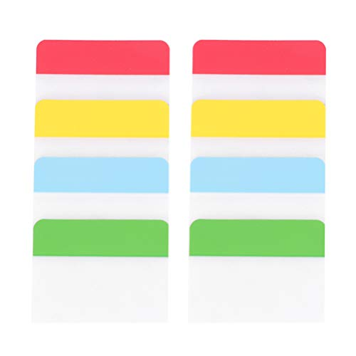 NUOBESTY 2 Sets Tabs Tape Flag Dispensers Adhesive Page Makers Sticky Notes for Binders Notebooks Books File Folders School Supplies