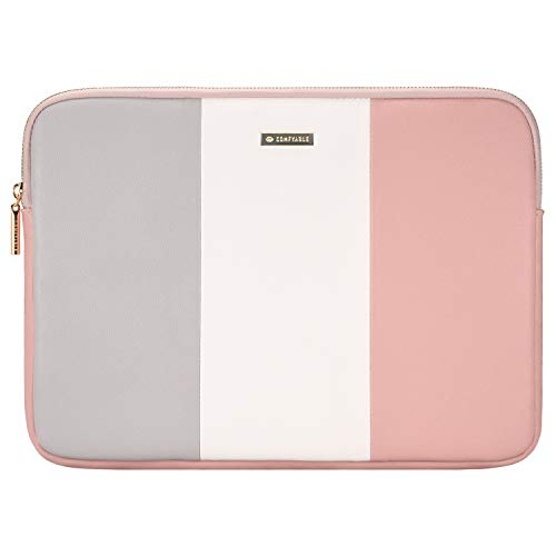 Comfyable Laptop Sleeve for 13-13.3 Inch MacBook Pro & MacBook Air- Water Resistant Cover Computer Case for Mac-Grey&White&Pink