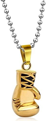 NC134 Collar de Temperamento Simple Guante de Moda Collar con Colgante de Acero de Titanio Personalidad Dominante Hombres Guantes de Boxeo Accesorios