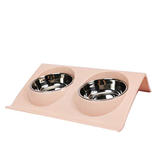 Balacoo 1PC Pet Food Water Bowl Plastic Stainless Steel Dual...