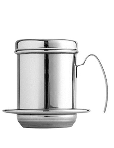 SJQ-coffee pot Filtre à Café de Qualité SupéRieure-Filtre en Acier Inoxydable 304 au Vietnam avec Filtre Anti-BrûLures - Portable - Appareils de Cuisine - Noir/Argent/Or