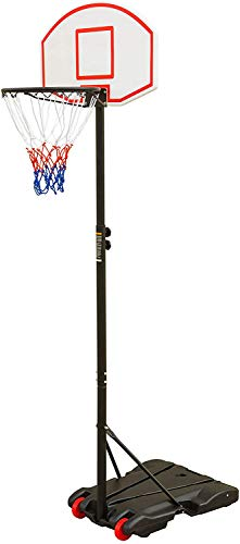Basketball Hoop for Kids Portable Height-Adjustable [6.5FT - 8 FT] Sports Backboard System Stand w/Wheels