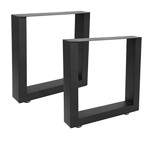BMOT 2x Tischkufen 30x43cm, Tischgestell Vintage- und Industrie-Look Schwarz pulverbeschichtet robust Möbelfüße, für Couchtisch, Esstisch, Schreibtisch