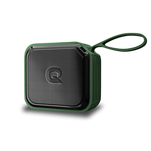 Quantum SonoTrix 51 Bluetooth Speaker, IPX7 Waterproof, 5W Output, Powerful Bass, BT 5.0, Upto 19hrs Playtime, Micro SD Card Slot, AUX Input, USB Support and in-Built Noise Cancelling Mic (Green)