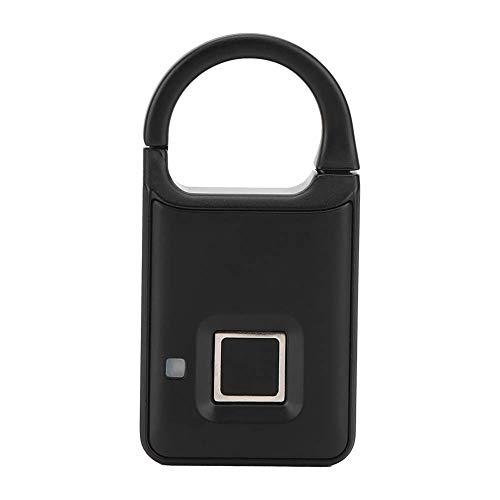 Cerradura de casillero de huellas dactilares, cerradura pequeña con biometría sin llave, candado de huellas dactilares para gimnasio, deporte, escuela, bolso, mochila, maleta, equipaje