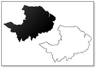Imán para nevera con diseño de mapa de Renfrewshire (Reino Unido, Escocia)