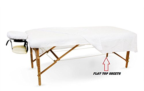 OMNI LINENS 12 New White Massage Table Flat Draw Sheet Muslin T130 54x80