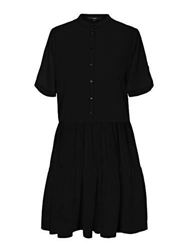 VERO MODA Damen Blusenkleid 2/4-Ärmel MBlack