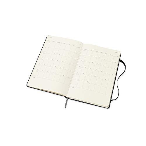 モレスキン手帳2021年1月始まり12ヶ月ウィークリーダイアリーホリゾンタル(横型)ハードカバーラージサイズブラックDHB12WH3Y21