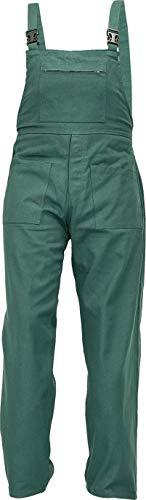 DINOZAVR UDO Pantalones con Peto de Trabajo para Hombre - Algodón Transpirable - Verde EU48