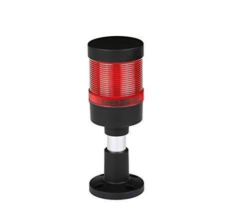 Industrielle Signalsäule FL70 LED rot + Summer 12V 24V 230V Tower Maschinenwarnleuchte Durchmesser: 70 mm Schutzart: IP65 Garantie 2 Jahre (Spannung: 230V)