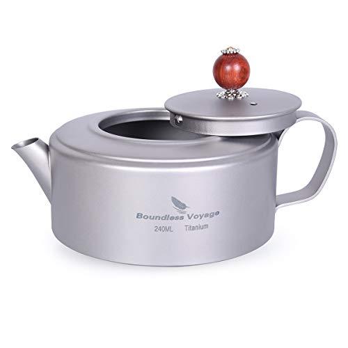 Boundless Voyage titanium thee waterkoker koffie waterkoker voor inductiekookplaat kantine wijn theepot outdoor servies kookgerei met nettas Ti15135B
