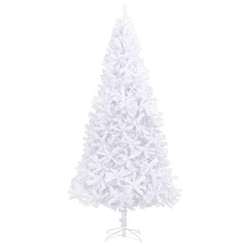 Festnight Albero di Natale Artificiale Bianco 300 cm