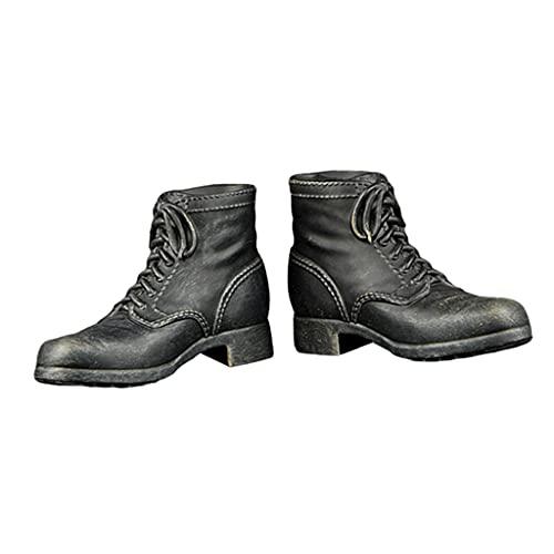 Desconocido Generic Zapatos de Botas de Combate a Escala 1/6 para Accesorios de Cuerpo de de Acción de Soldado Masculino de 12 Pulgadas - a