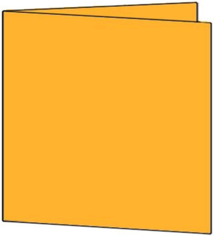 50 Stück    Artoz Serie 1001 Doppelkarten gerippt    Quadratisch, 310 x 155mm, hochwertig, Orange B002JJDJG2 | Guter weltweiter Ruf