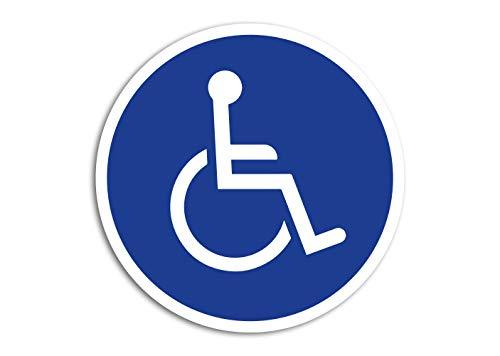 Aufkleber Rollstuhl-Fahrer Hinweis Schild Autoaufkleber Waschstrassenfest UV-Beständig