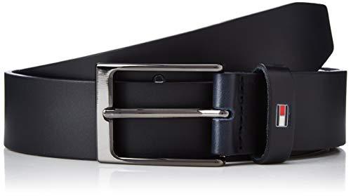Tommy Hilfiger Layton Leather Belt 3.5 Cintura, (Blue Cjm), Small (Taglia Produttore: 115.0) Uomo