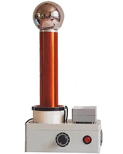 Bobina de Tesla de Potencia Ajustable Bobina de Tesla con separación de chispas de Alta frecuencia Transmisión inalámbrica Modelo Educativo de Ciencia Bobina de Bricolaje Juguete electrónico