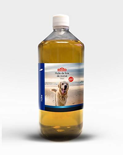 Huile de foie de morue - Diététique animale - Renforcement du capital osseux et musculaire - 250 ML ou 1 Litre ou 5 litres - Fabriqué en France (1 litre)