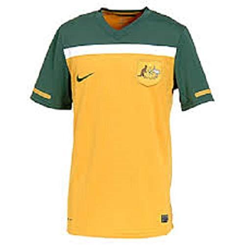 Nike Men's Australia Home Jersey 10/11-GOLD (XL)