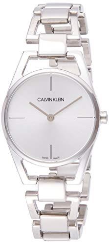 Calvin Klein Damen Analog Quarz Uhr mit Edelstahl Armband K7L23146