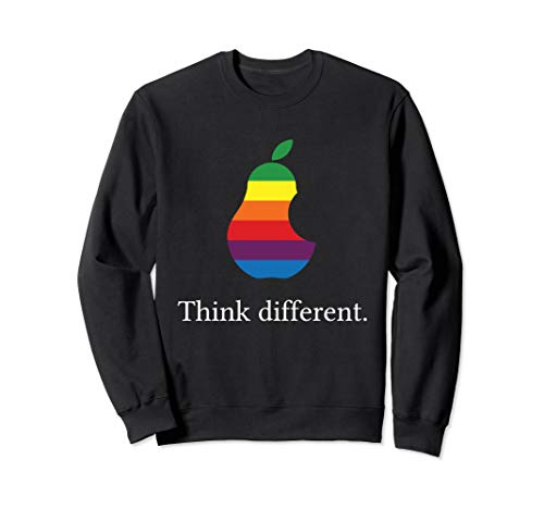 Think different Lustige angebissene Birne Sweatshirt