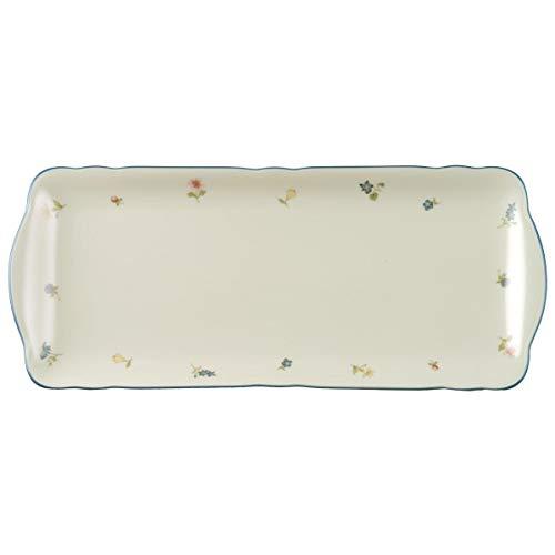 Seltmann Weiden 001.295157 Assiette à gâteau rectangulaire 35 cm Fleurs